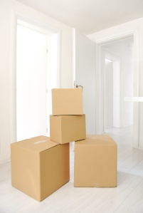 Moving Boxes at new home